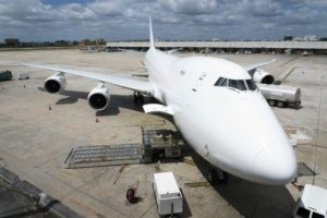 Cargo Aircraft front view